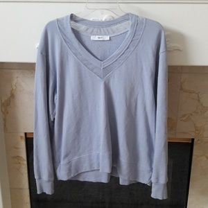 Wilt Periwinkle Blue French Terry Sweatshirt Top